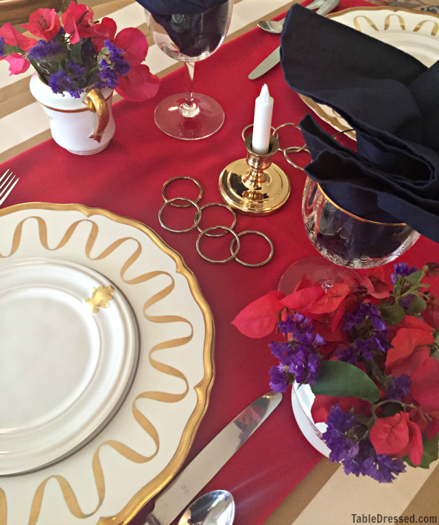 Olympic Angle TableSetting